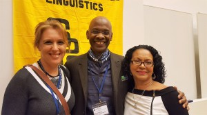 Dr. Sally Delgado, Dr. Michel DeGraff, and Petra Avillan, doctoral candidate in the English Department, at the Society for Pidgin and Creole Linguistics summer conference in Tampere, Finland, June 2017