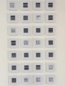 Alyssa González Cintrón Self documentation (1991-2015) in Hex Code, using raw data, 2015