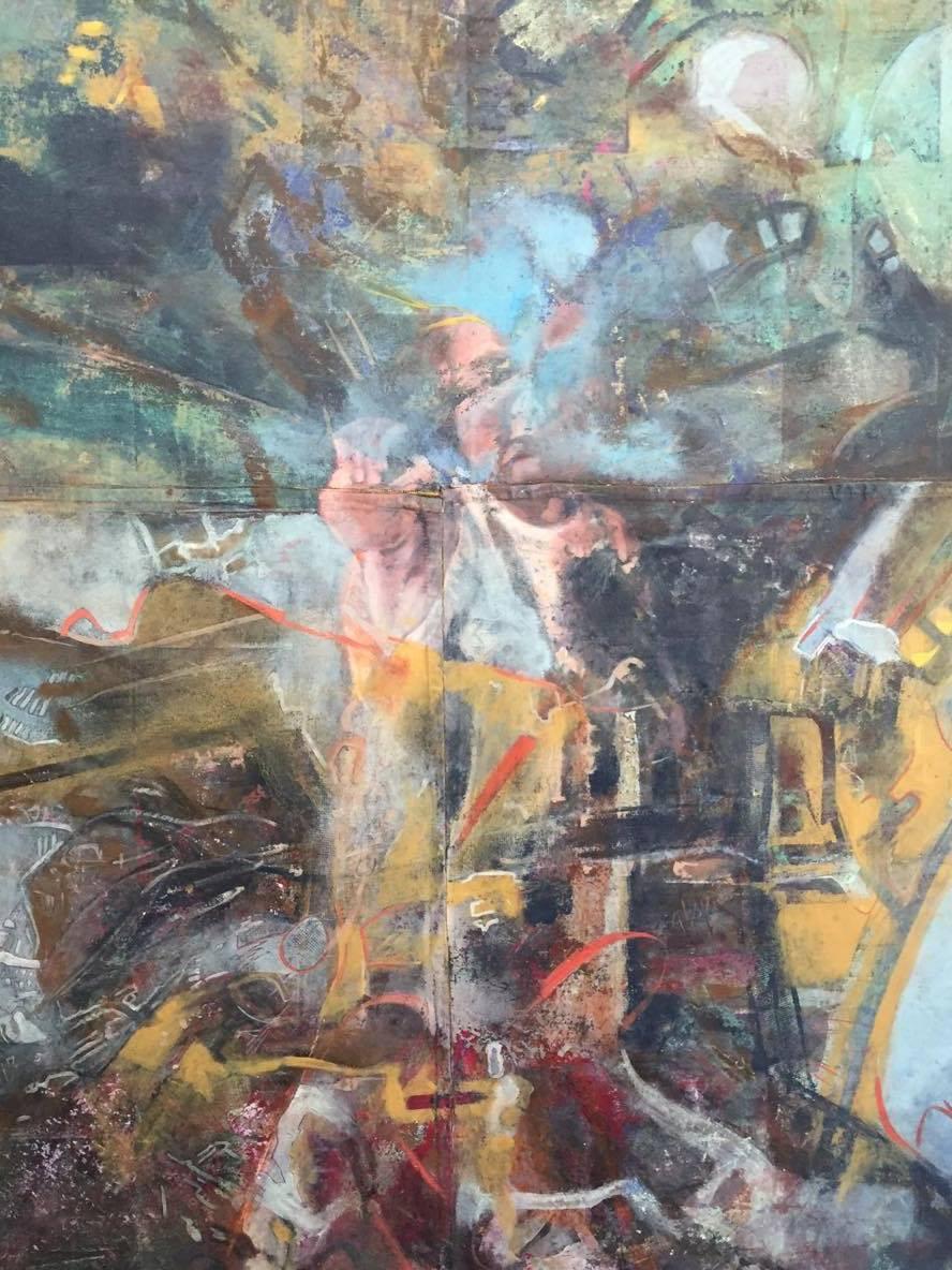 Allá (detalle), 2015 Óleo sobre lienzo