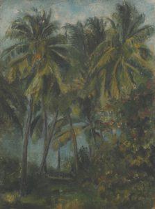 Ana María Degetau, Paisaje tropical, sin fecha, óleo sobre tela.